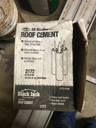 Photo Black jack all weather roof cement - $15 (Powell)
