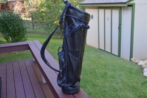 Photo Golf Clubs- TRADE Brand-New Sun Mountain 100 Leather Golf Bag - $350 (Crossville)
