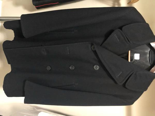 Photo Man39s US Navy enlisted overcoat (peacoat) 100 wood - $150 (Cookeville)