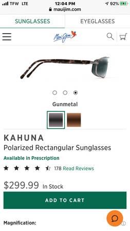 Photo Maui Jim sunglasses - $100 (Columbia)