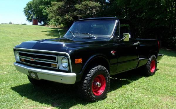 Photo PRICE REDUCED 1970 Chevy K10 4x4 short stepside SWB V8 4 speed - $11,300 (Jamestown)
