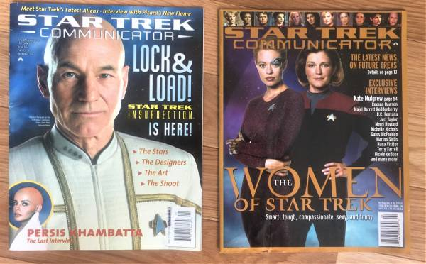 Photo Star Trek Communicator Magazines issues 120 and 131 - $20 (knoxville)