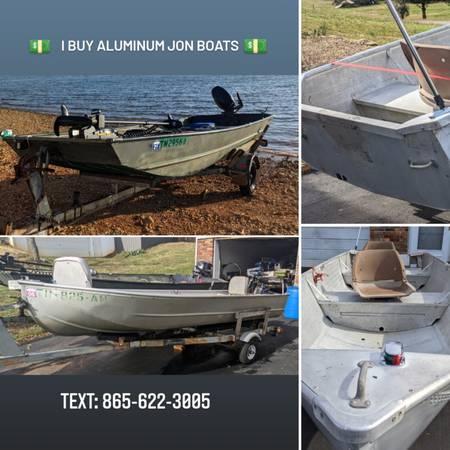 Photo iiiiBuy Aluminum Jon Boats  Outboards - $120 (Knoxville)
