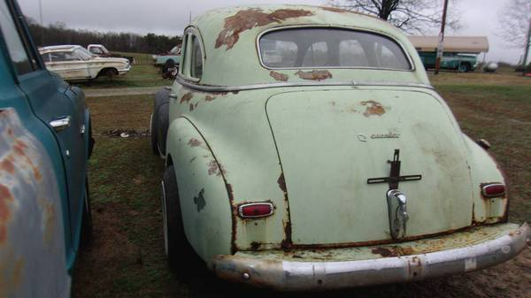 Photo street rat rod builder 1948 Chevy Fleetmaster patina sedan solid title - $2100 (Grimsley)