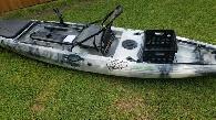 SOLD – Used 14′ Paluski Riptide Kayak (Orange & White ... |Riptide Kayak