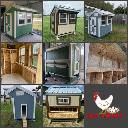 Photo 4X6 CHICKEN COOPS - CASH OR RENT TO OWN - $2,595 (Corpus Christi)