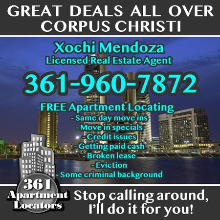 Photo $720 LET US DO THE WORK FOR YOU 361 APARTMENT LOCATORS
