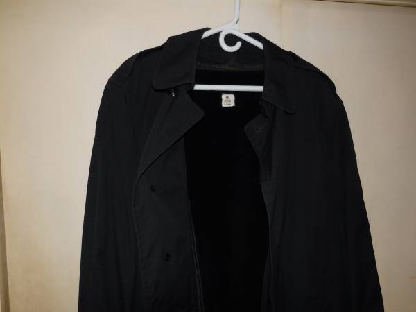 Photo Vintage 1994 US Navy Boot C Military Issued Trench Coat wLiner-44L - $60 (Bishop)
