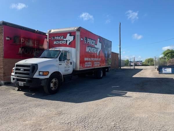 Photo 2004 Ford F650 diesel 26 ft. box moving truck - $8500 (Corpus Christi)