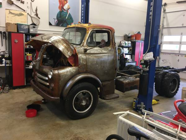 Photo 1956 Dodge COE Rolling chassis - $350 (Toledo Oregon)