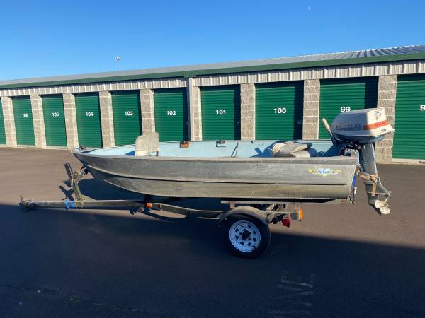 Photo 1967 valpo 12.8 aluminum boat and trailer for sale - $1,650 (Albany)