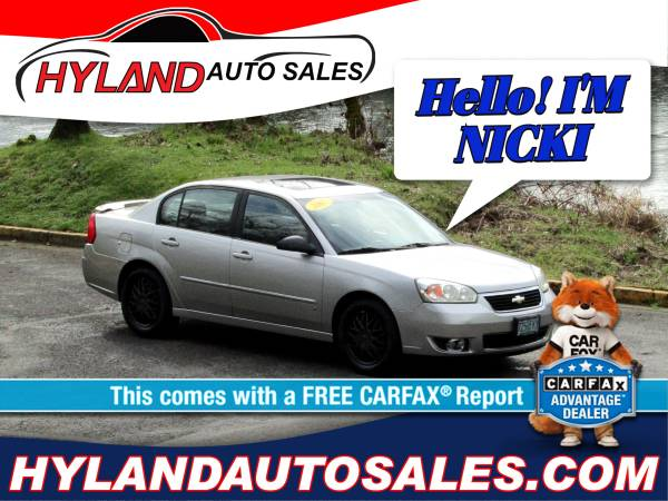 Photo 2007 CHEVY MALIBU WE ARE OPEN ONLY $500 DOWN  HYLAND AUTO SALES (OPEN, Compliant, Clean  HERE 2 HELP)