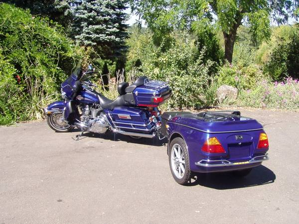 Photo 2007 Harley Davidson Ultra Glide Classic with Bushtec Trailer - $12900 (Sweet Home Or)