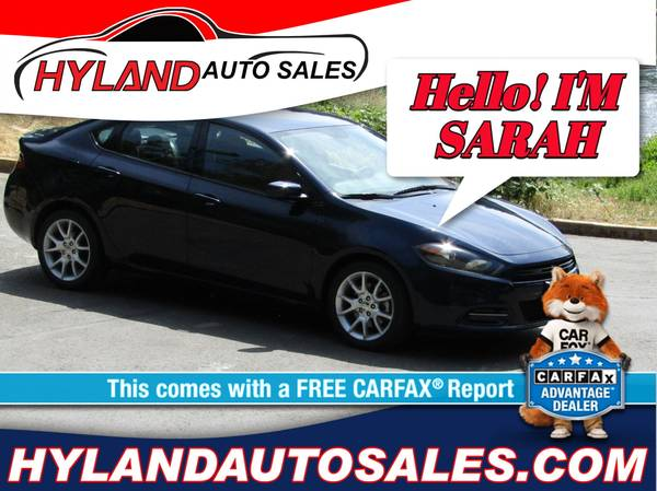 Photo 2014 DODGE DART SXTLOW MILESONLY $500 DOWN  HYLAND AUTO SALES  - $10995 (REDUCED PRICE...CLEAN CAR FAX)