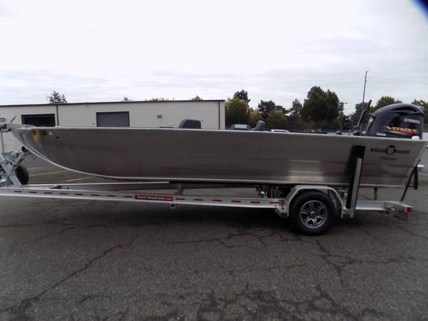 Photo 2019 Willie Boats 22.5 X 84 Fuzion, VF250 Tiller Jet, Like New 7 hrs. - $56,995 (Clackamas)