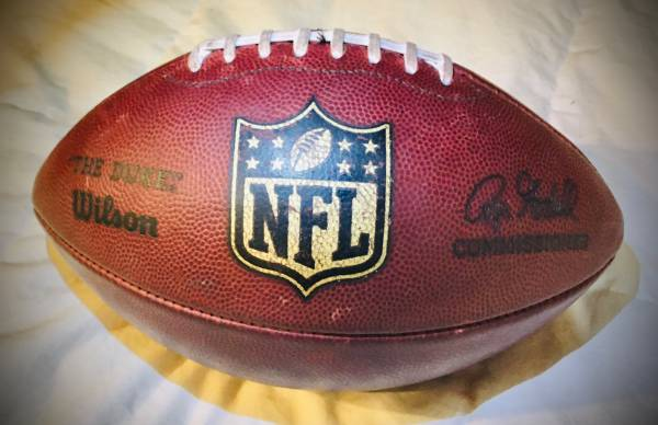 Photo AUTHENTIC GENUINE OFFICIAL LEATHER NFL THE DUKE FOOTBALL - $80 (Albany)