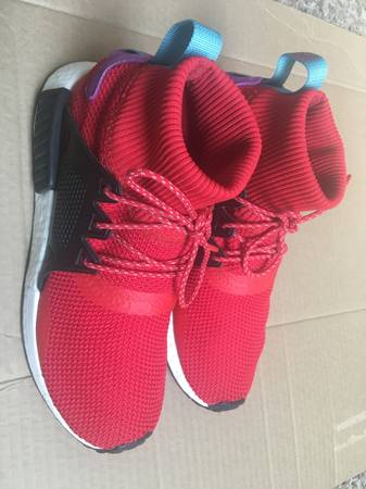 Photo Adidas Mens Red Black Boost Roller Knit Shoes like new - Size 10 - $50