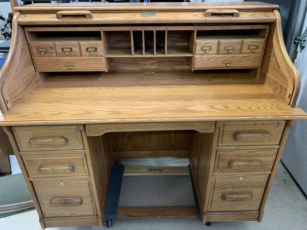 Photo Bentwood Roll Top Desk Price Lowered - $350 (Millersburg)