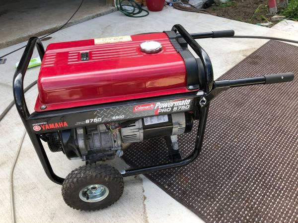 Photo Coleman Powermate Pro 6750 Generator - $300
