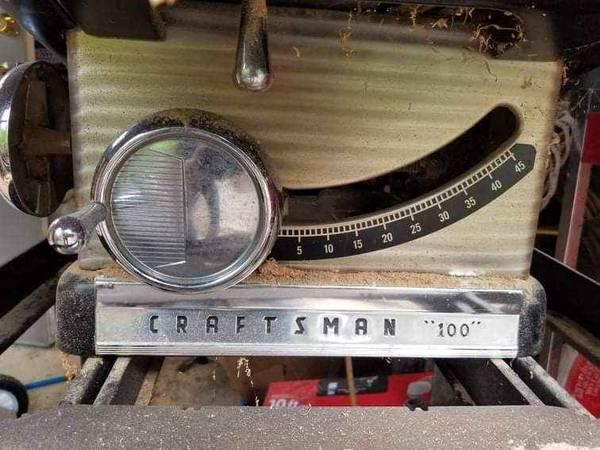 Photo Craftsman table saw - $125