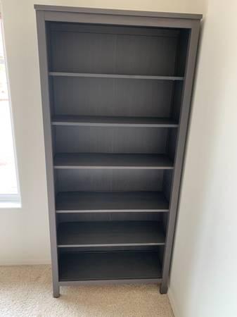 Photo Ikea HEMNES Bookcase, dark gray stained35 38x77 12 quot - $120 (Corvallis)