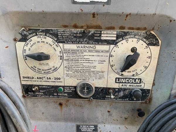 Photo Lincoln sa 200 welder - $2,000 (Albany)