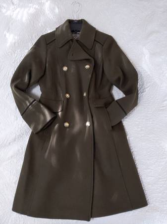 Photo New - Women39s XS Vince-Camuto Olive Green Wool Coat - $100 (Corvallis)