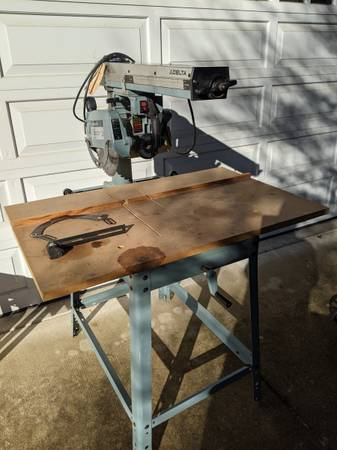 Photo PRICE REDUCED - Delta 10quot Radial Arm Saw on Stand - $50 (Corvallis)