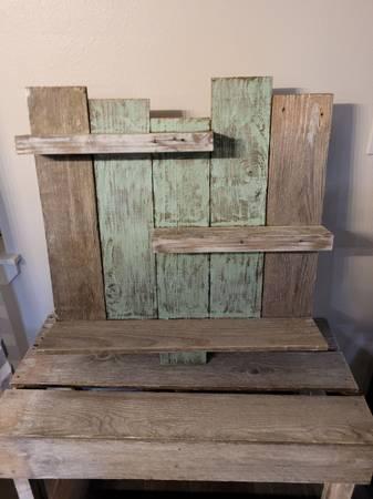 Photo Shabby Chic Teal-woodenshelf - $40 (Albany)