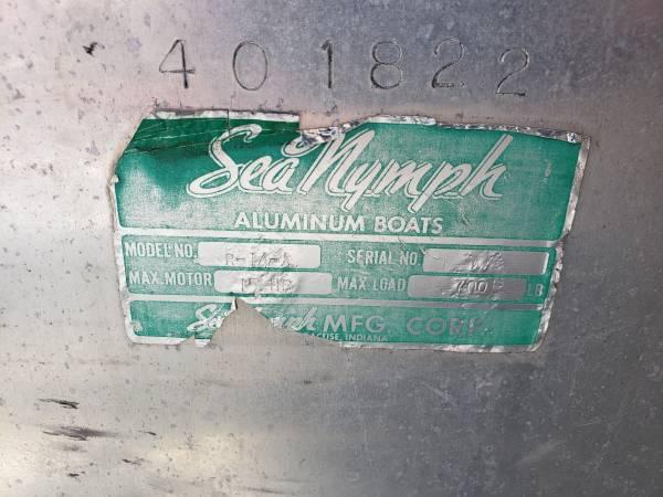 Photo 14 foot sea nymph aluminum fishing boat - $1,500 (Lake George)