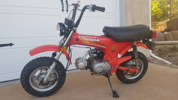 Photo 1980 Honda CT70 Trail 70 with certificate of origin - $2,000 (Colorado Springs)