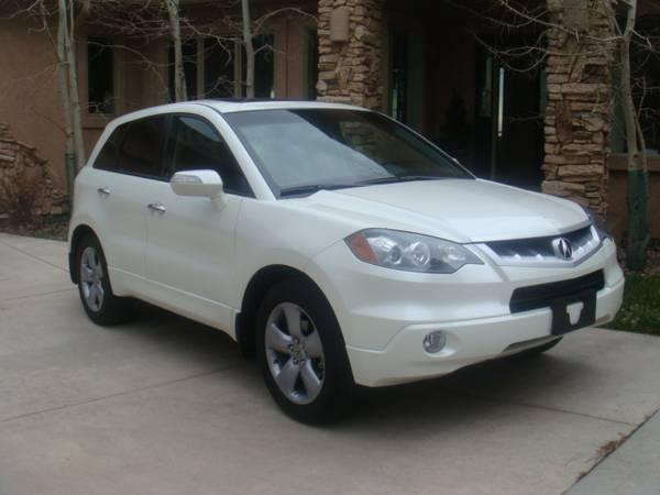 Photo 2008 Acura RDX turbo, SH-AWD, leather, pearl white, AWD, sun roof - $5,499 (Colorado Springs)