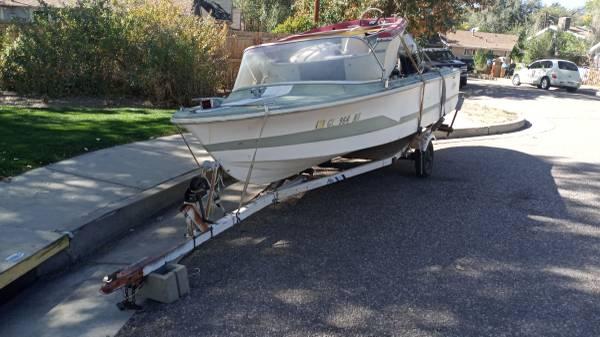 Photo 2 boats two motors one trailer - $500 (Colorado Springs)