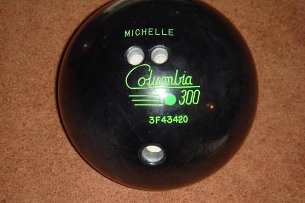 Photo Black Columbia 300 Green Dot 12 lb.-9 12 oz. Bowling Ball (Reduced) - $10 (SWCS)