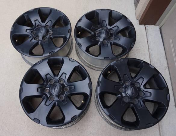 Photo Ford F150 Wheels, set of 4, (Black) 18 inch. - $160 (North Colorado Springs)