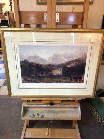 Photo Framed Bierstadt Print - The Rocky Mountains - $60 (Tri-Lakes Consignment)