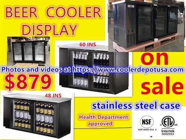 Photo NSF 486072 Glass Back Bar Cooler(2-3- Door) - $1,788 (100 new)