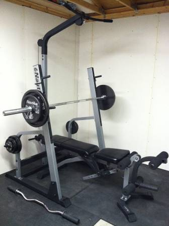 Nautilus Squat Rack Bench Olympic Weights Bars 500 Colorado Springs Sports Goods For