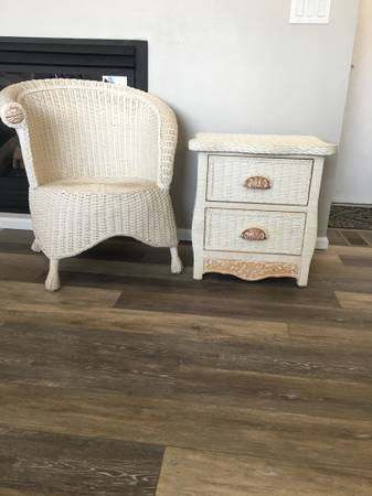 Photo Pier 1 Jamaica Collection Wicker Chair  Nightstand - $150