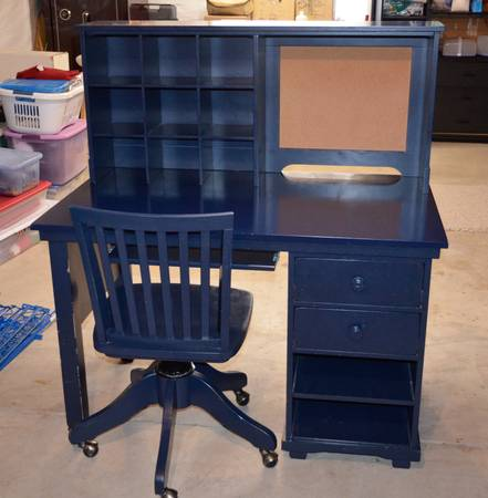 Photo Pottery Barn Desk and Chair - $295 (Briargate)