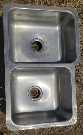 Photo Stainless steel double sink - $20 (Colorado Springs)