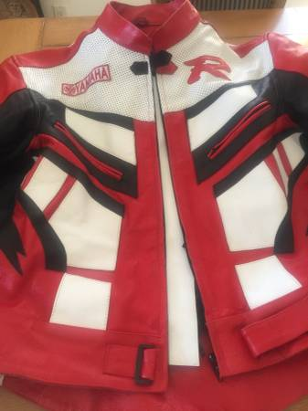 Photo Yamaha R Racing Leather MotorCycle Jacket - $180 (Woodland Park)
