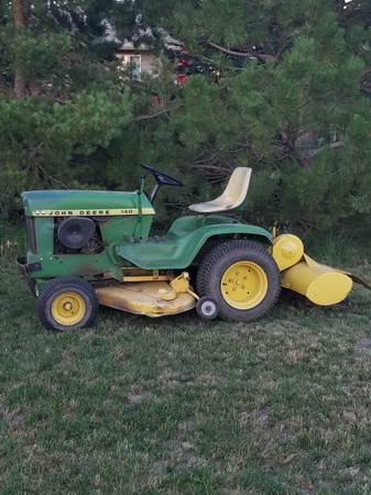 Photo John Deere 140 H1 lawn mower with tiller - $900 (Pierre)