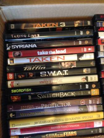 Photo TEN DVD MOVIES. YOUR CHOICE, MANY TITLES. 10 FOR - $15 (Rapid City)