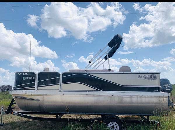 Photo 2017 G3 Yamaha Pontoon Boat V18F 70 HorsePower Outboard Engine - 1839 - $22000