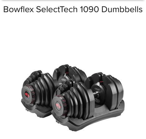 Photo (2) BRAND NEW UNOPENED Bowflex SelectTech 1090 Adjustable Dumbbells - $1,100 (North Dallas 635  75)