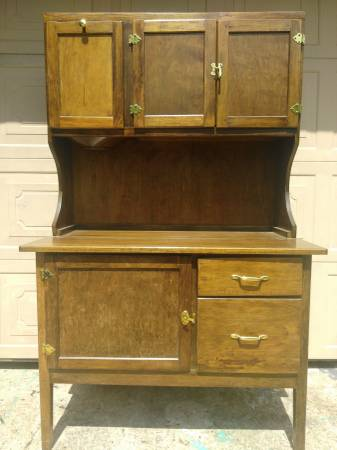 Antique Hoosier Cabinet 350