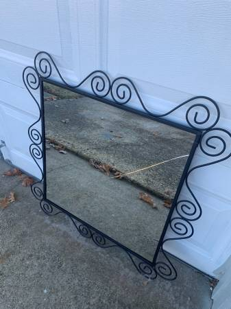 Photo Black metal frame (from mirror)