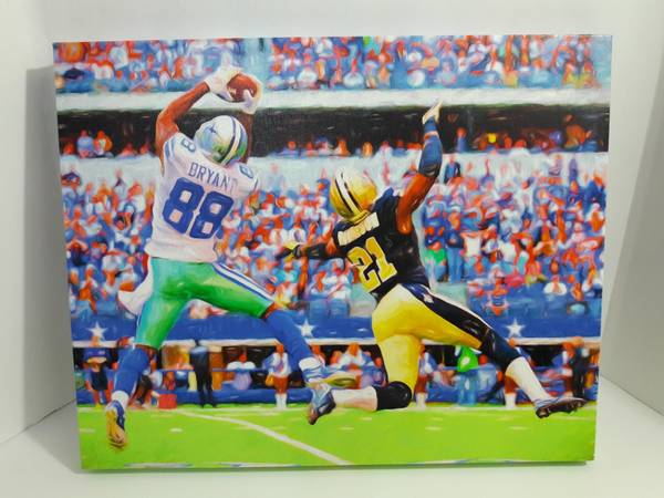 Photo Football sports print on canvas 20 inch x 16 inch - $20 (Little Elm)