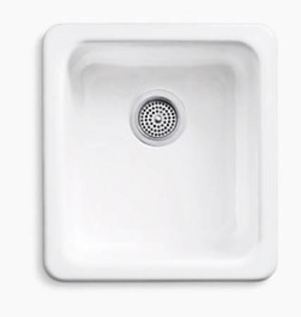 Photo Kohler IronTones Dual-Mount White Cast-Iron Single-Bowl Kitchen Sink - $200 (Krugerville)